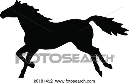 clip art of running horse k0187452 search clipart illustration rh fotosearch com Horse Race Track Clip Art running horse silhouette clip art free