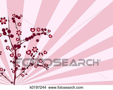 Dibujos árbol De Amor K0197244 Buscar Clip Art Ilustraciones