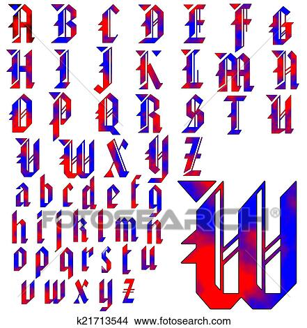 Drawings Of ABC Alphabet Lettering Design K21713544