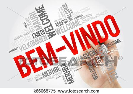 Bem Vindo Welcome In Portuguese Word Cloud Stock Photography K66068775 Fotosearch
