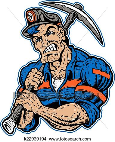 clipart of coal miner with pick ax k22939194 search clip art rh fotosearch com coal miner clip art images coal miner clip art images