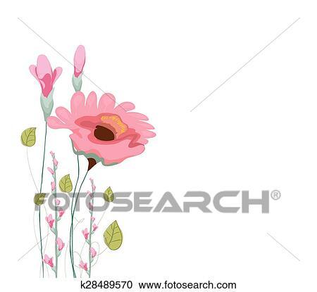 Clipart Malen Aquarell Karte Mit Mohnblume K28489570 Suche