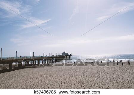 Manhattan Beach Pier Stock Photography K57496785 Fotosearch