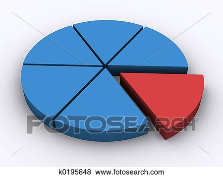 Stock Illustration Of Pie Chart K0195848 Search Eps Clip Art