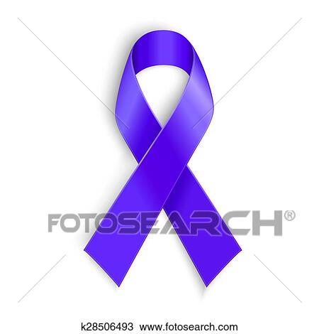 Clipart Of Purple Ribbon As Symbol Of Cancer Awareness Drug