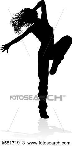 Street Dance Dancer Silhouette Clipart K58171913 Fotosearch