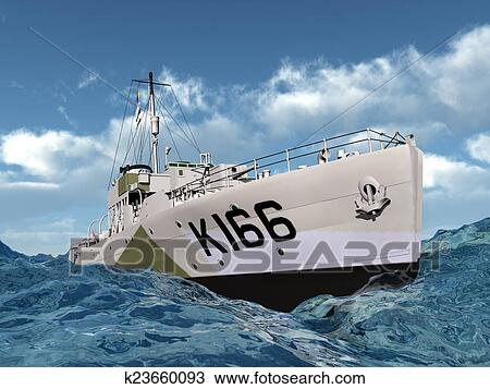drawing of world war ii ship of canada k23660093 search clipart rh fotosearch com Iwo Jima Clip Art WW1 Clip Art
