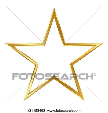 Colección de ilustraciones - dorado, simple, 3d, marco estrella ...