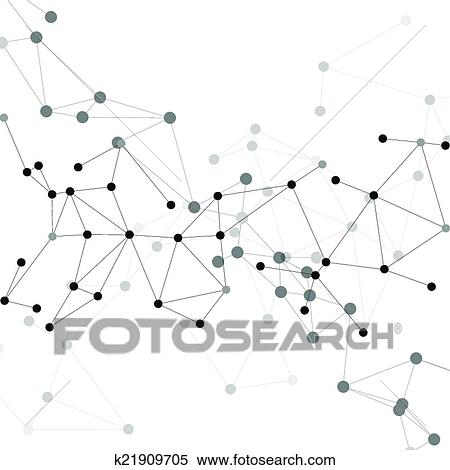 Clipart Of Molecule Structure Gray Background For Communication