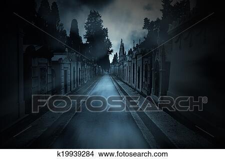 Dessins sombre cimeti re fond k19939284 recherche de - Dessin sombre ...