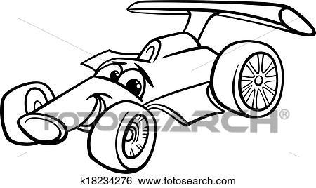 Klipart Zavodny Auto Bolide Zafarbenie Strana K18234276