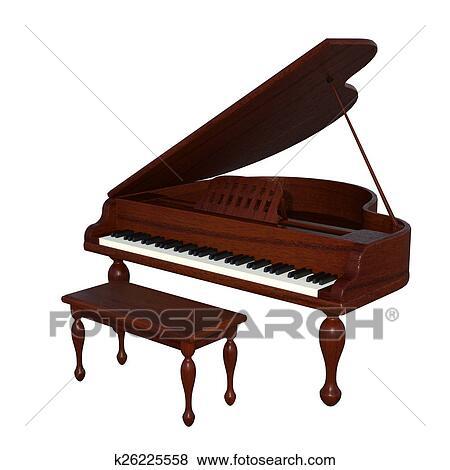 סנסציוני מאגר איור - פסנתר כנף k26225558 - חיפוש קליפארט, ציורים, ציורי קיר KO-74