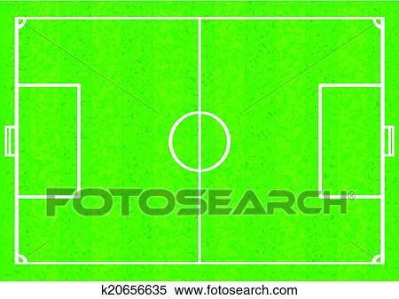 Fussballplatz Clipart K20656635 Fotosearch
