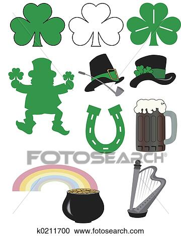 Stock Illustrations Of St Patricks Day K0211700 Search Clipart