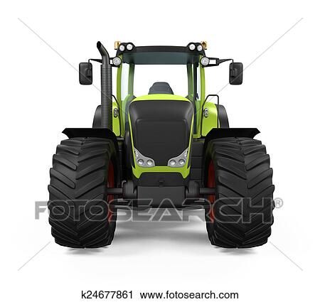Clipart Of Green Tractor Isolated K24677861 Search Clip Art