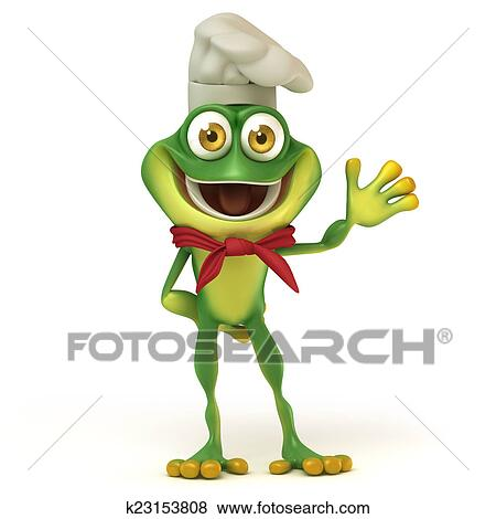 stock illustration of chef frog say hello k23153808 search eps rh fotosearch com Vector The Crocodile Turtle Vector