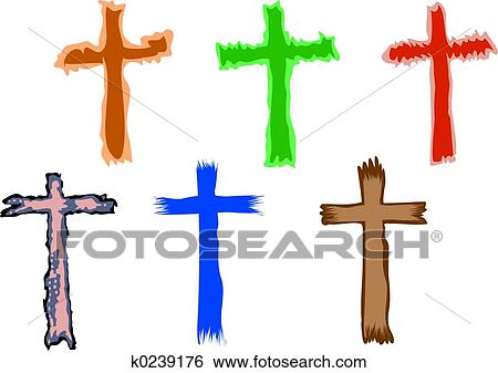 Stock Illustration Of Cross Symbols K0239176 Search Clip Art
