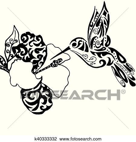 Clipart Hiqh Qualiti Colibri Et Orchidee Pour Coloration Ou