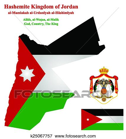 Jordan Flag Clip Art | k25067757 | Fotosearch