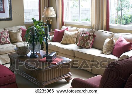 Stock Images Of Living Room K0235966 Search Stock Photography