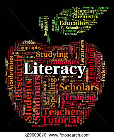 Stock Illustrations Of Literacy Word Indicates Ability Read And Text