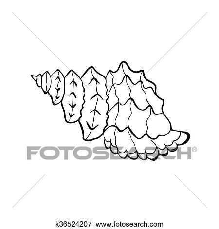 Sea Shell Icon Clip Art K36524207