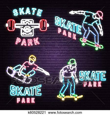 Skate Park Background – Clipart Cartoons By VectorToons