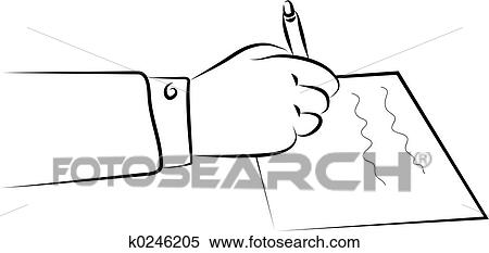 stock illustration of signing a document k0246205 search clipart