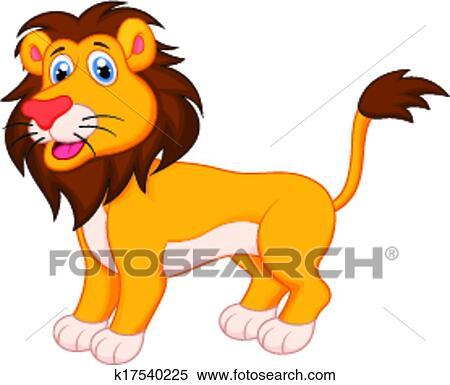 かわいい ライオン 漫画 クリップアート切り張りイラスト絵画