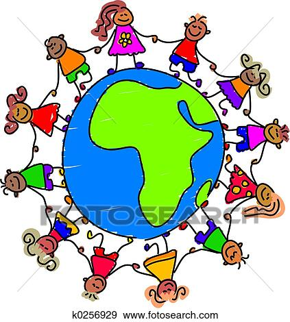 stock illustration of african kids k0256929 search vector clipart rh fotosearch com