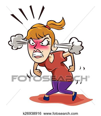 clip art of angry woman k26938916 search clipart illustration rh fotosearch com fotosearch clipart free clipart fotosearch weihnachten
