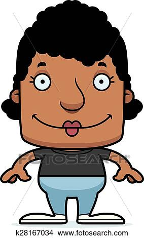 Cartoon Smiling Woman Clipart | k28167034 | Fotosearch