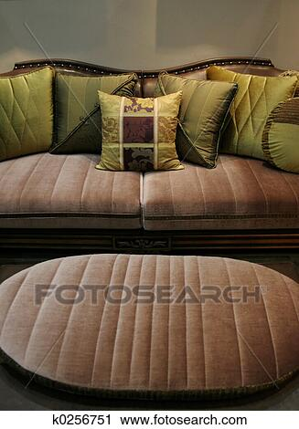 Amazing Green Sofa And Matching Chair Home Interiors Stock Image Gmtry Best Dining Table And Chair Ideas Images Gmtryco