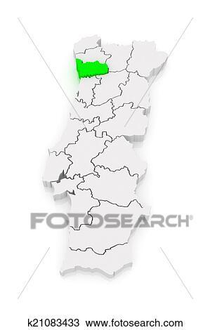 Mapa De Porto Portugal Desenho K21083433 Fotosearch