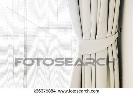 Tende finestra archivio fotografico k36375884