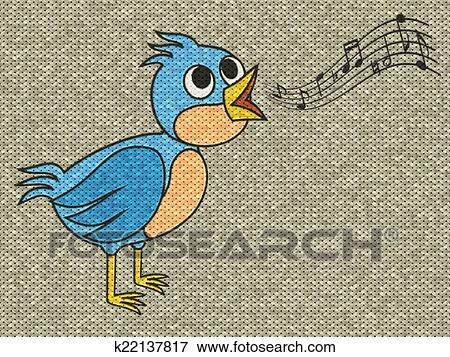歌っている鳥 救助 絵 上に 発生させる 編みなさい 手ざわり