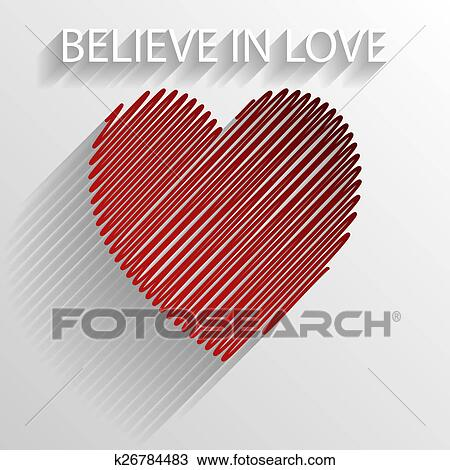 Drawing Of Believe In Love K26784483 Search Clipart Illustration