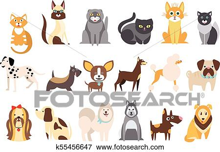 Caricatura Cobranca De Engracado Gatos E Cachorros De