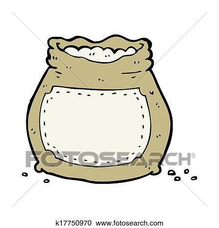 cartoon bag of flour clipart k17750970 fotosearch https www fotosearch com csp026 k17750970
