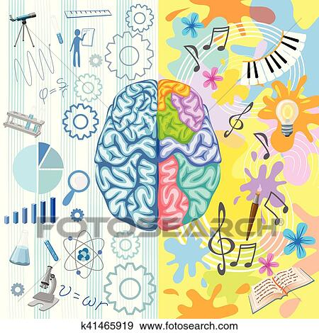 Clip Art Of Creative Brain Composition K41465919