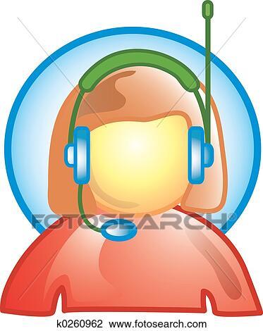 clip art of customer service icon k0260962 search clipart rh fotosearch com customer service clip art images free customer service clipart images free