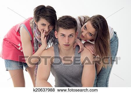 Boys teens have fun