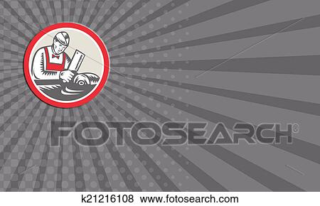 Stock illustration of business card butcher woodcut circle retro stock illustration business card butcher woodcut circle retro fotosearch search eps clip art reheart Image collections