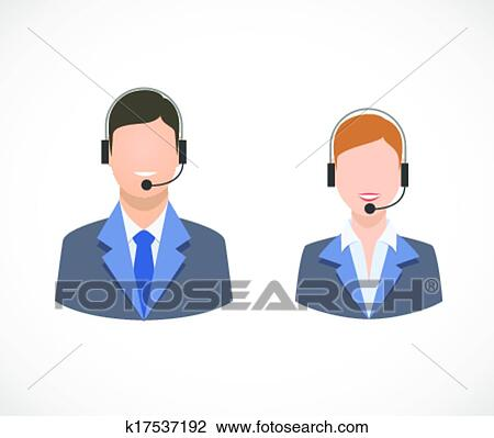 clipart of call center support personnel staff icons k17537192 rh fotosearch com support clip art free peer support clipart