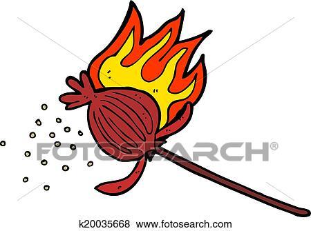 Clip art of cartoon poppy flower k20035668 search clipart cartoon poppy flower mightylinksfo