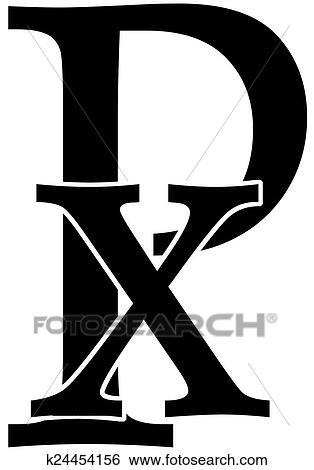 Stock Illustration Of Chi Rho K24454156 Search Clip Art Drawings