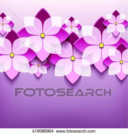Clipart Floral Branche Fond A 3d Fleur Sakura K19086964