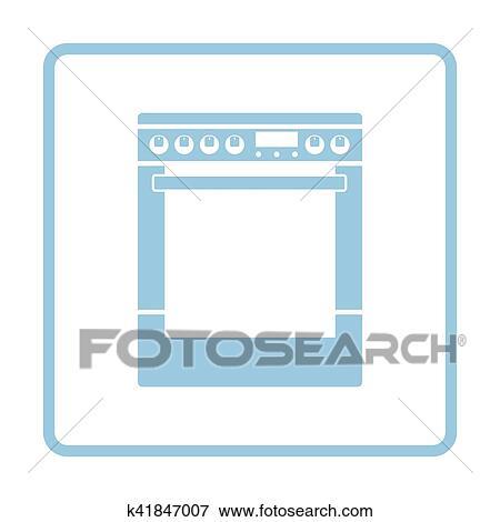 Clip Art - kueche, haupt, herd, einheit, symbol k41847007 - Suche ...