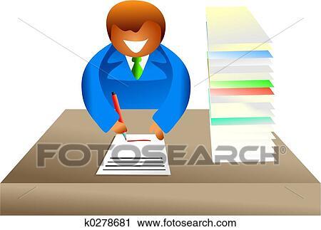 Lavoro Ufficio Clipart : Clipart lavoro ufficio k cerca clipart illustrazioni