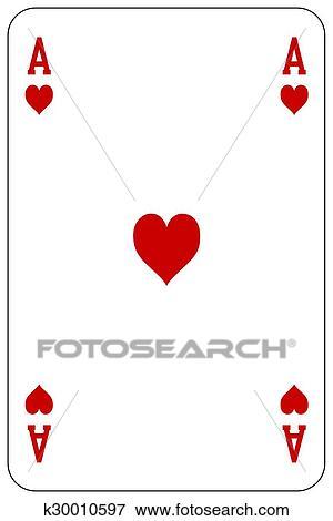 クリップアート ポーカー トランプ エース 心 K30010597 クリップ